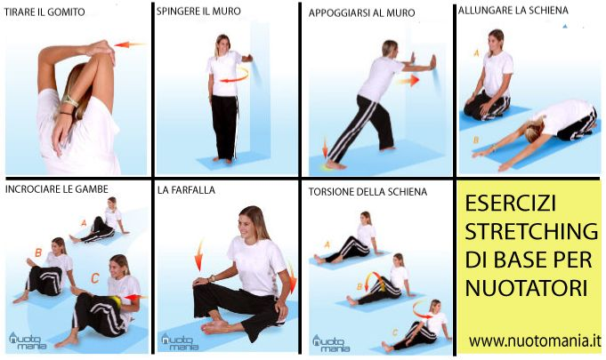 #STRETCHING #NUOTO per prevenire lesioni, lo stretching è molto importante e quando lo si fa è necessario interessare tutte le parti del corpo. LEGGI: http://bit.ly/1GiZ9jg   seguici su -> Nuotomania