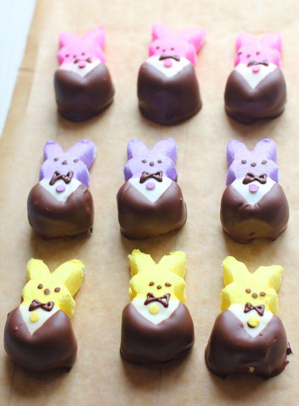 Tuxedo Peeps~ (chocolate covered peeps)