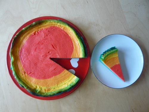 rainbow cheesescake, Regenbogen Käsekuchen