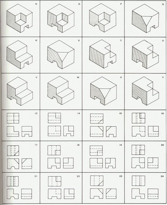 Orthographic Projection Worksheet - Karibunicollies