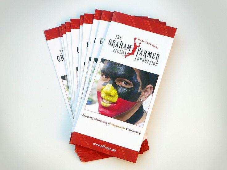 DL Brochure design for the Graham Polly Farmer Foundation, by Designz by Jamz #logo #brochure #design #graphicdesign #branding #creative #corporatebranding