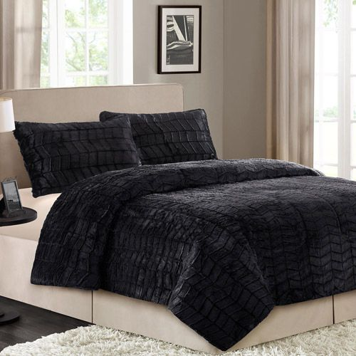 Better Homes and Gardens Faux Fur Bedding Comforter Set