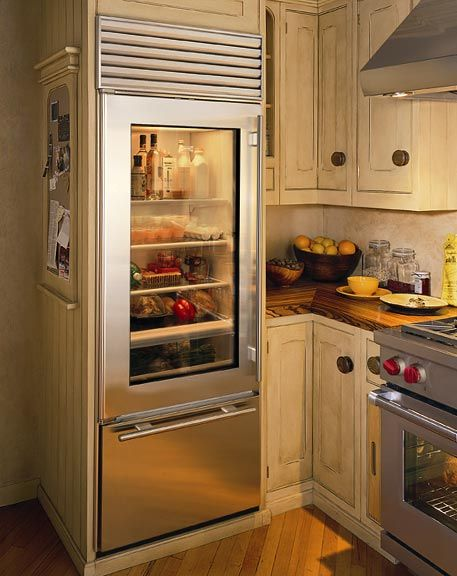 Glass Door Fridge: You don't even have to open the door to see what's to eat!