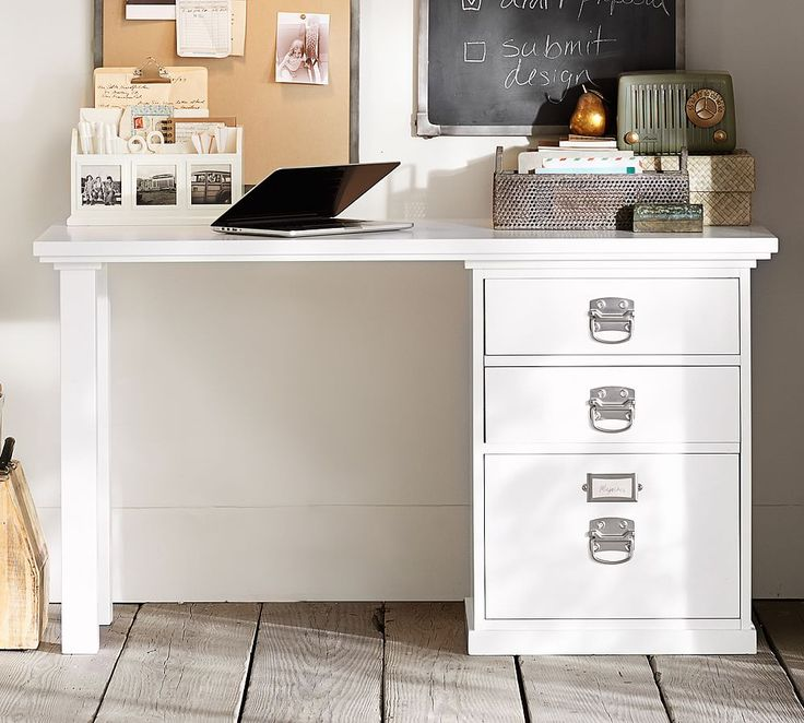 Bedford Small Desk Set, 1 Desktop & 1 3-Drawer File