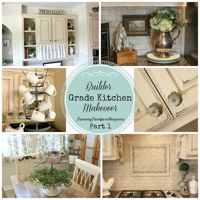 French Farmhouse Kitchen - French Country Kitchen- Autumn Haze Glidden Paint- Annie Sloan Chalk