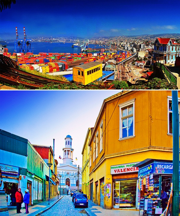 Valparaiso – Chile. Love how colorful this city is!
