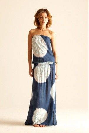 Tube-Top Low-Waist Maxi Dress