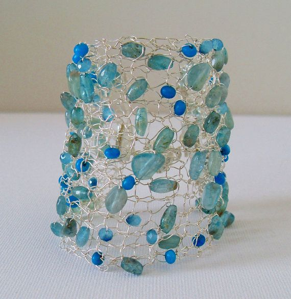 9 best wire knit jewelry images on Pinterest | Arm knitting, Hand ...