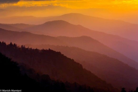 Great Smokey Mountain National Park as captured by Manish Mamtani Photography in October, 2013.