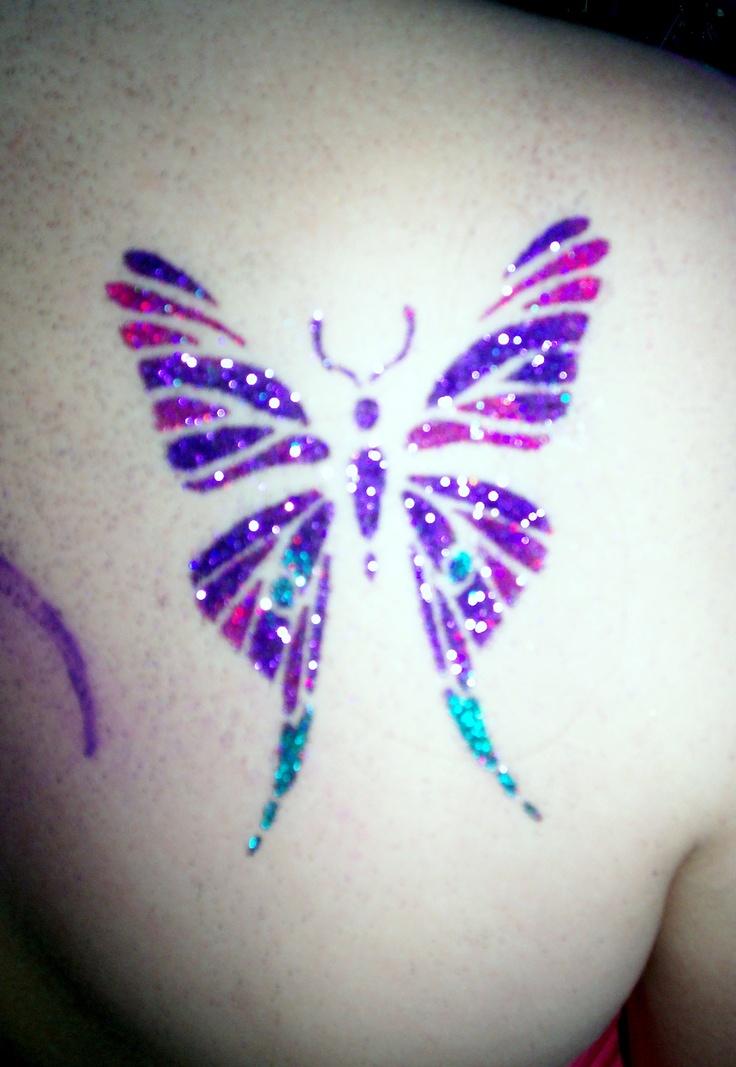 Tattoo glitter borboleta