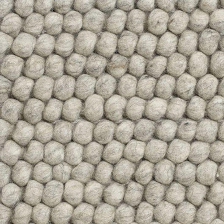 Tapis PEAS 100% laine gris clair mélangé - HAY