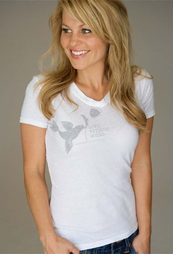 Candace Cameron Bure - modeling her t-shirt collection