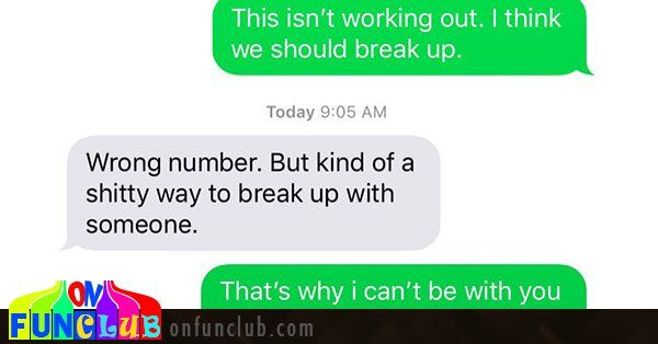 It's been a while since I've been in the dating world, but one rule I know still stands is that you shouldn't break up with someone via text. Or at least I think that's still a rule? In any event, this weekend comedian Mike Primavera decided to randomly start texting numbers and breaking up wit... http://onfunzone.com/viral-post/funny-viral/this-guy-breaking-up-with-random-phone-numbers-via-text-is-the-funniest-thing-youll-see-in-the-next-3-5-minutes/