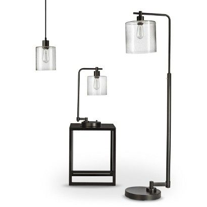 Threshold Seeded Glass Industrial Lighting Collection