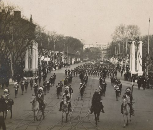 "Indian chiefs headed by Geronimo, passing in review before President Roosevelt, Inauguration Day, Washington, 1905 [[MORE]] "" First Inaugural Parade of Theodore Roosevelt, March 4, 1905. President Roosevelt waved his hat and members of the..."