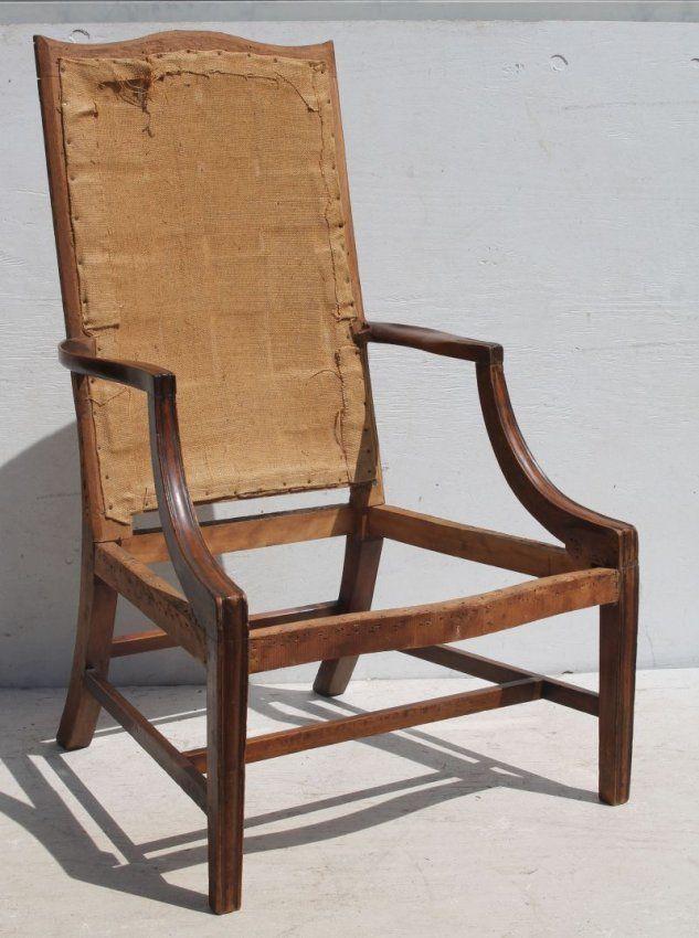 Exemplary Hepplewhite Period 18thC Boston Lolling Chair