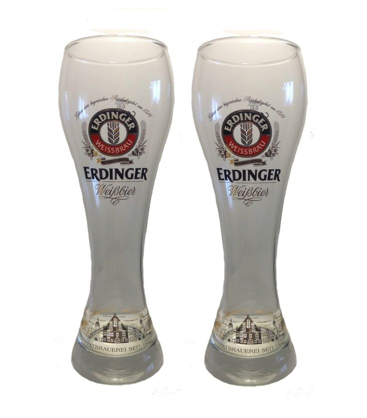 "#Erdinger - 2 bicchieri / vetro di #birra - 0,5 litri - ""Weizen"" - NUOVO in | eBay"