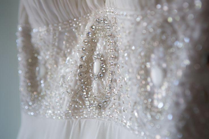 #jewelencrusted #bitofbling #pearls #weddingdress #weddingphotography #brentjonesphotography