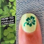 Firkløver negle tutorial for St. Patricks dag nail art manicure