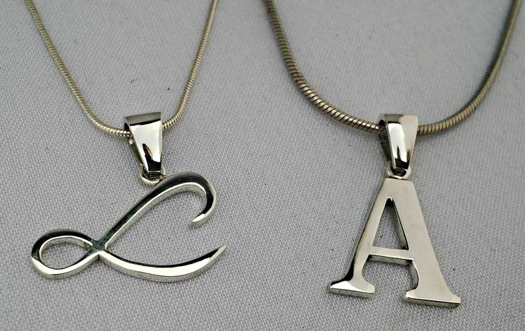 Sterling silver initials pendants