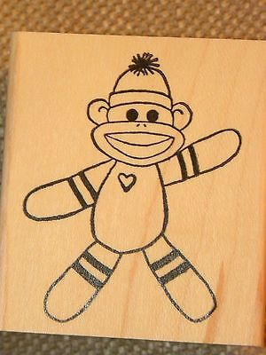 BABY-SOCK-MONKEY sold separately. You can purchase these  in  my ebay store. Click on picture & it will take you into this listing in my Ebay Store. .  My ebay Store is:  Pat's Rubber Stamps & Scrapbooks or call me 423-357-4334 with order. We take PayPal. You get free shipping with $30.00 or more