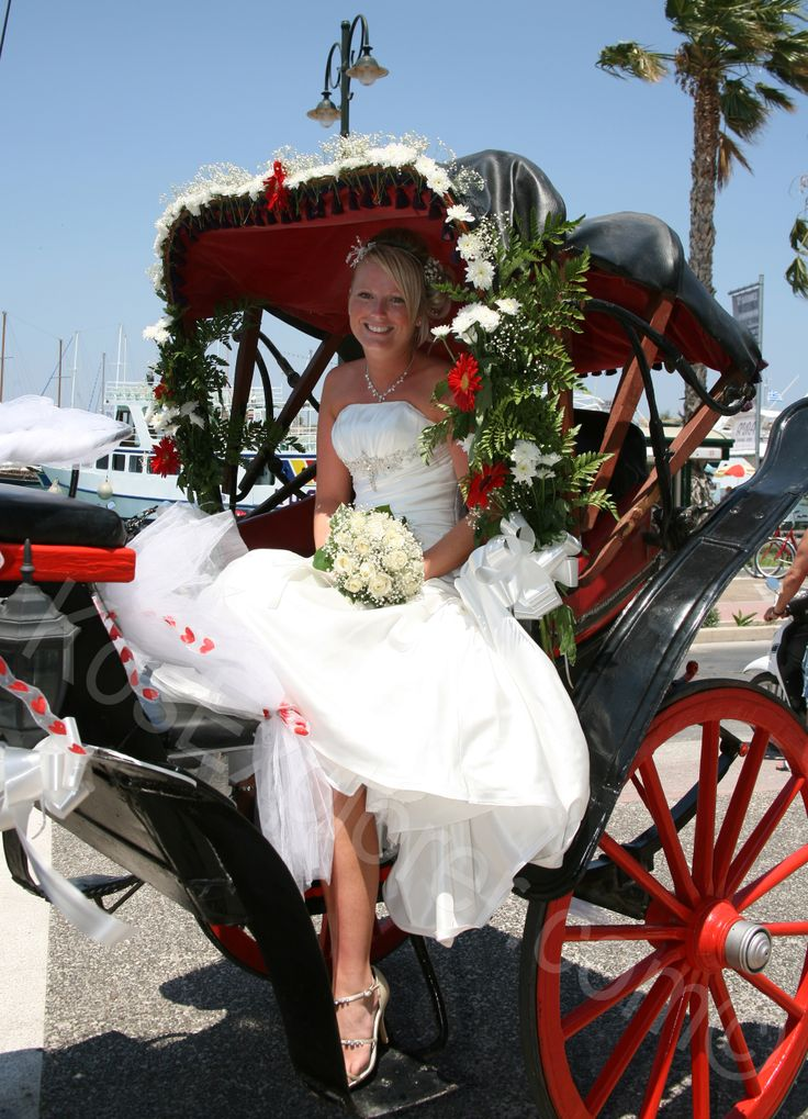Horse and carriage and sun?! What more could you want for your special day! #wedding #horse #carriage
