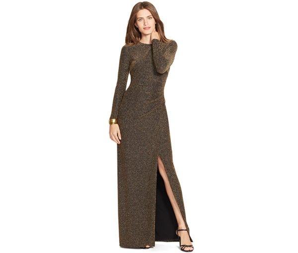 Lauren Ralph Lauren Metallic-Knit Dress - Mother of the Bride - Women - Macy's