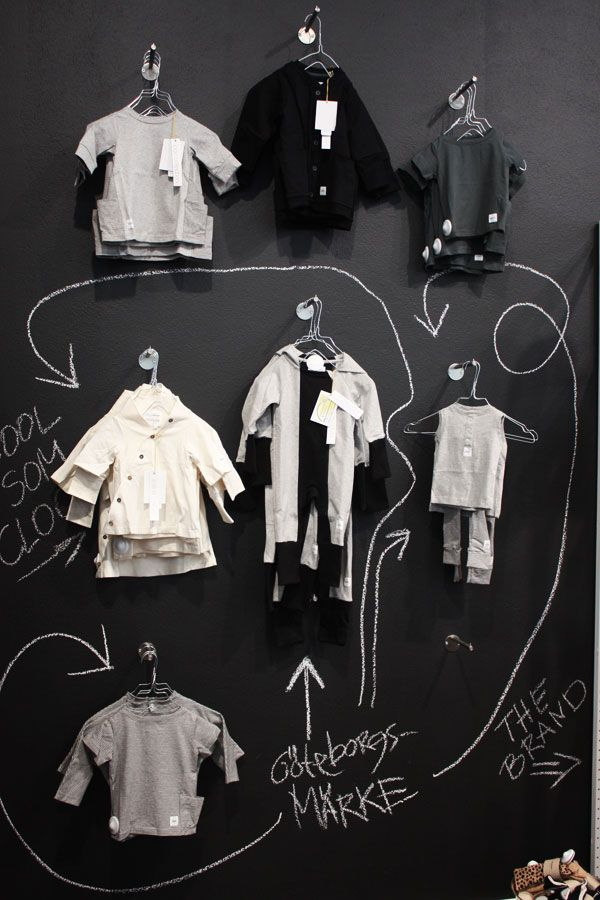 Chalkboard inspiration for a wall display. (via oiishop). #retail #merchandising #fashion #display #chalkboard