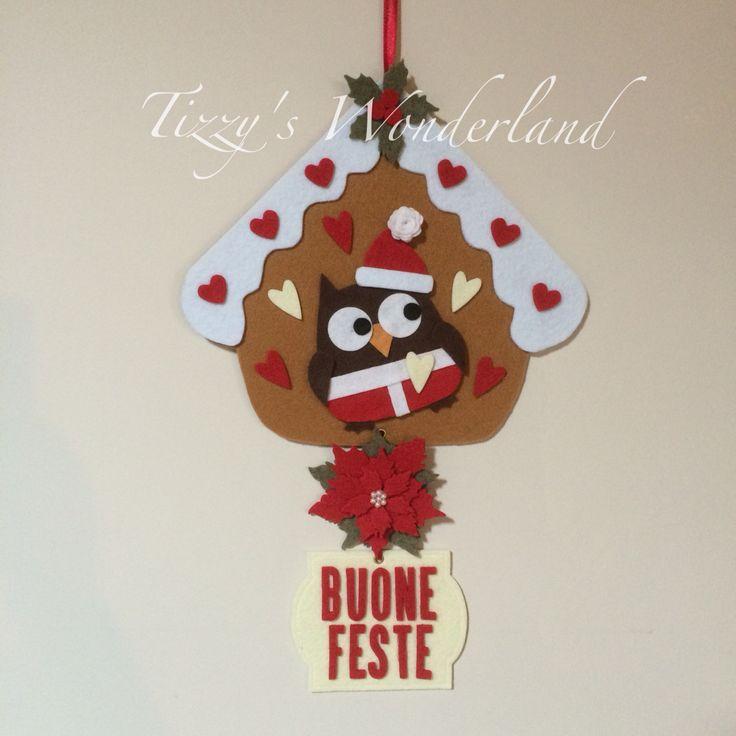 Ghirlanda Natalizia in feltro! Christmas Wreath in felt! #feltro #felt #bigshot #sizzix #poinsettia #stelladinatale #fustella #gufo #owl