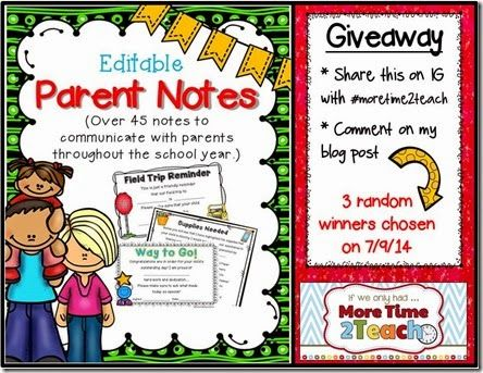 Parent Notes and a Giveaway