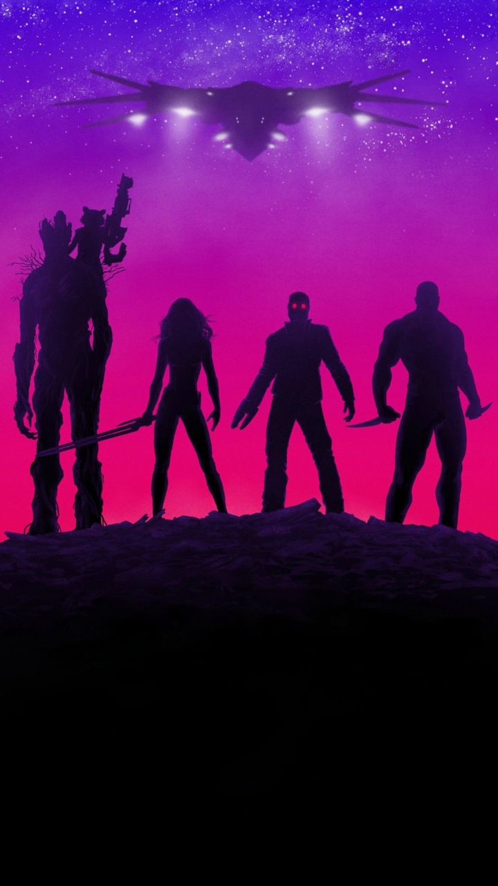 Guardians Of The Galaxy Movie Neon Lights Poster 720x1280 Wallpaper Guardians Of The Galaxy Marvel Cinematic Marvel Wallpaper
