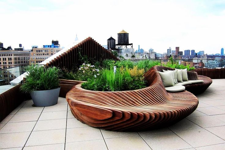 "A Designer's Mind on Instagram: ""Weekend vibes... Love this curvaceous timber planter/seat on this Soho rooftop!! Project by: Field Operations Image via: fieldoperations.net #homedesign #lifestyle #style #designporn #interiors #decorating #interiordesign #interiordecor #architecture #landscapedesign"""