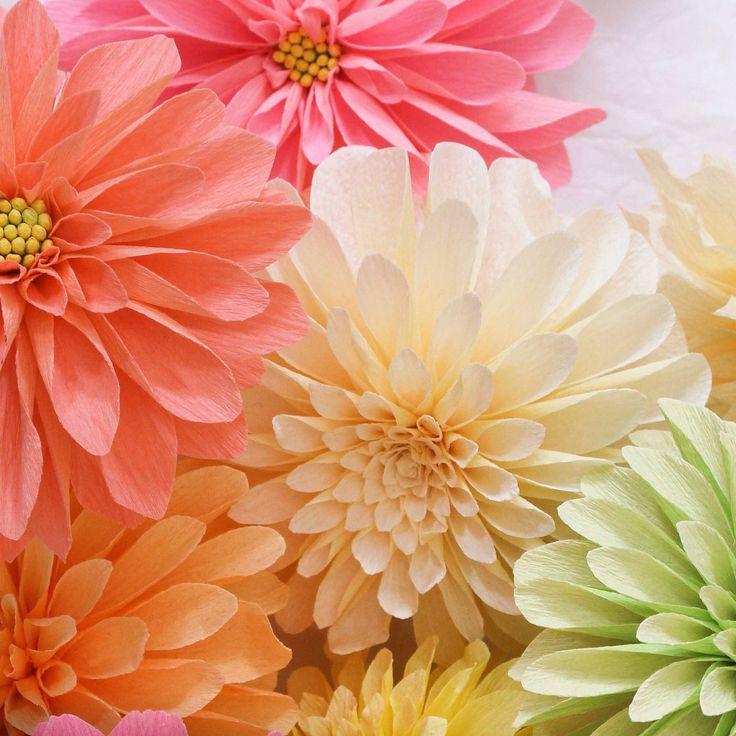 Paper Dahlia Flowers by A Petal Unfolds                                                                                                                                                                                 More