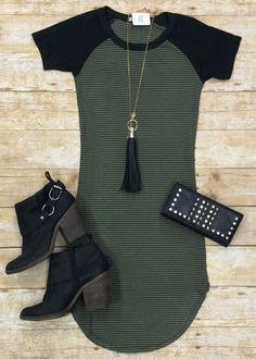 Home Team Tunic Dress: Olive