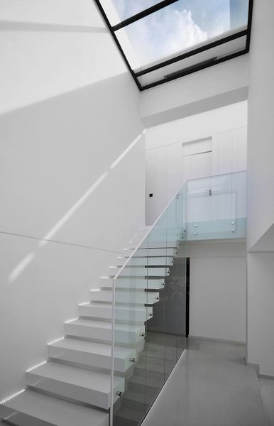 stairs under glass ceiling #innovative #architecture