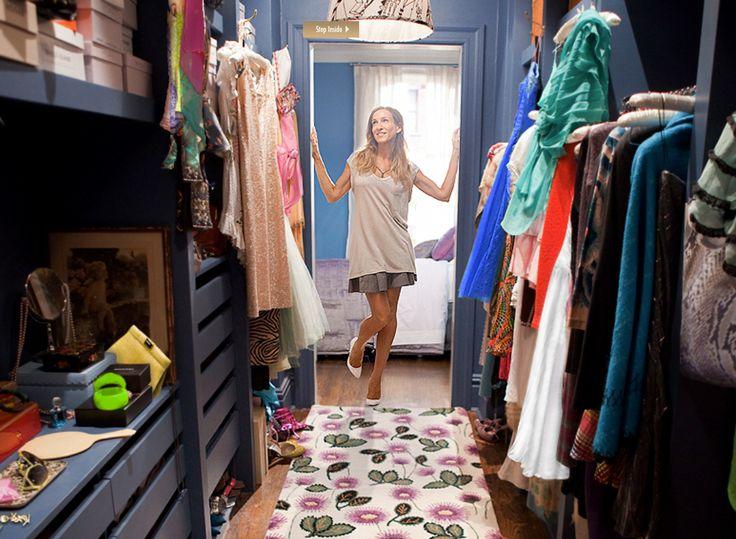 Carrie Bradshaw and her closet // #SJP #SATC
