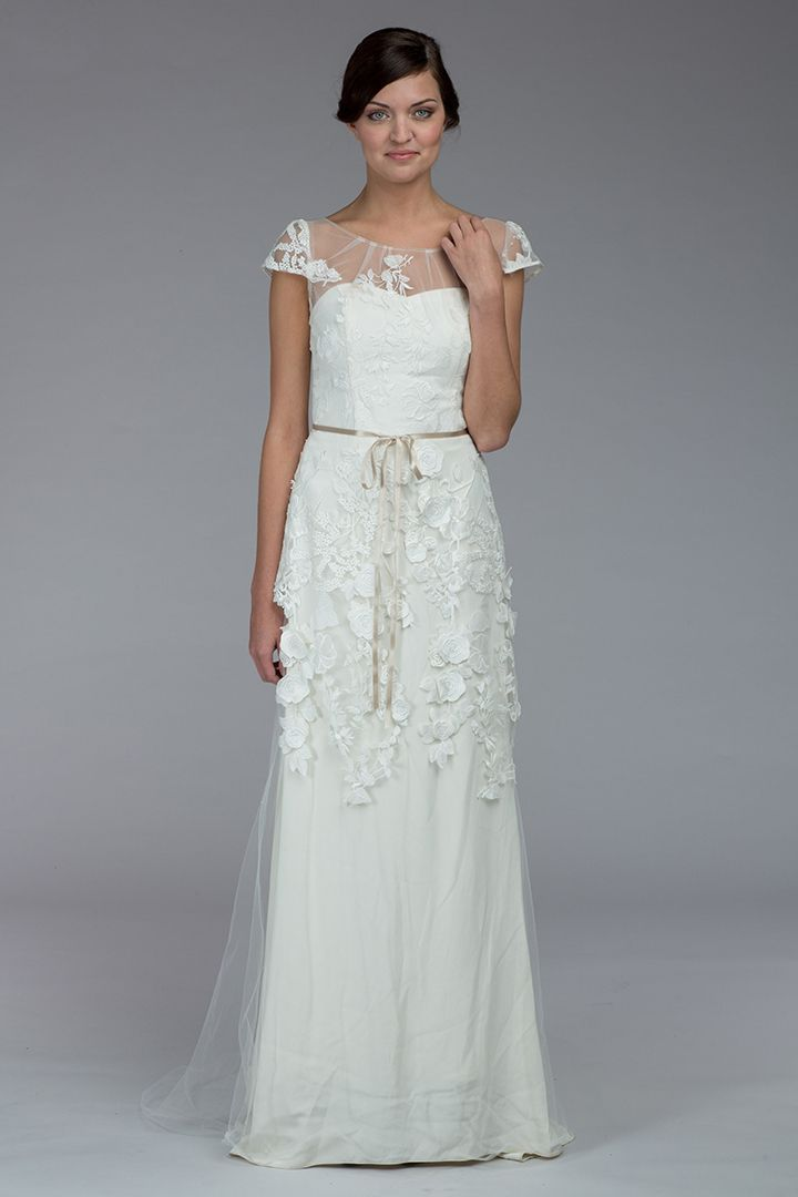 Kate McDonald/LulaKate LaMour wedding gown, available soon at Something White, A Bridal Boutique