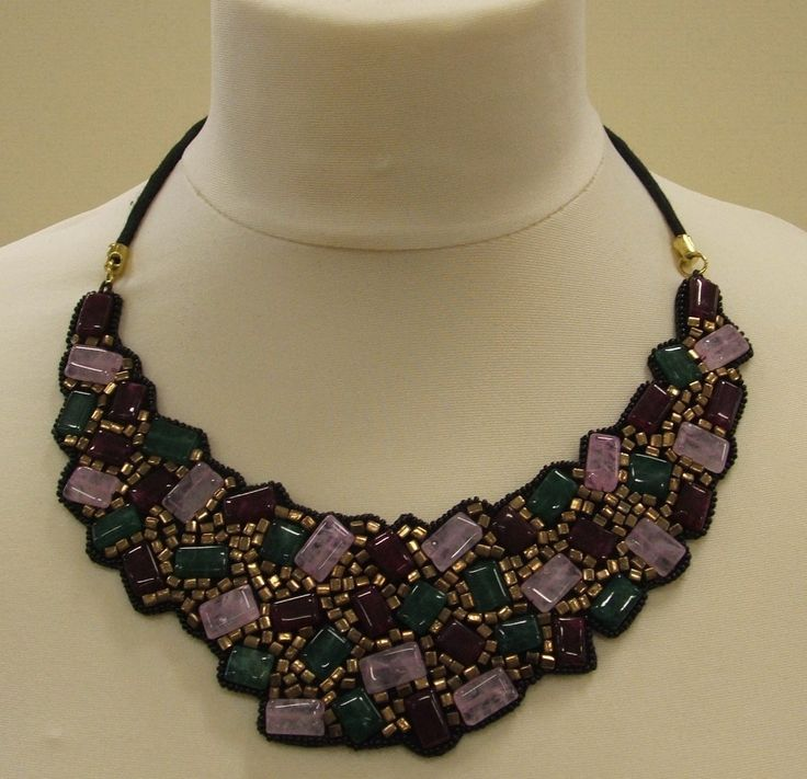 beautiful statement bib necklace on velvet backing £15.99. FREE POSTAGE