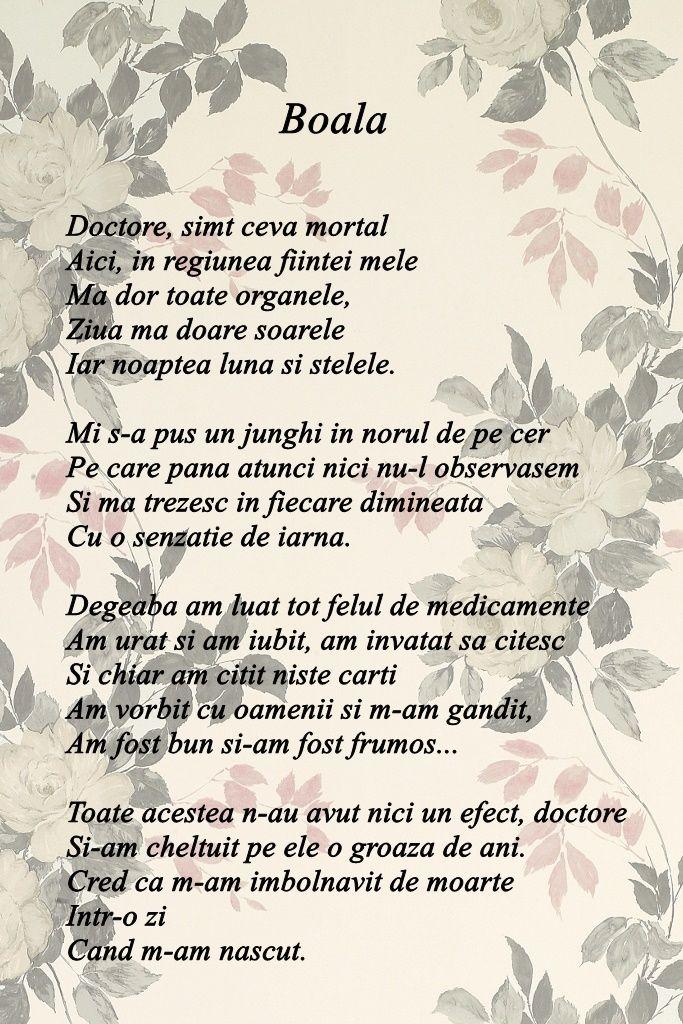 """""""Boala"""" - Marin Sorescu"""