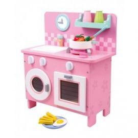 Het allermooiste roze houten keukentje! Rosalie. Welke keukenprinses mag hierop koken?