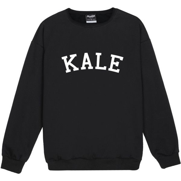 Kale Sweater Jumper Yonce Flawless Funny Fun Tumblr Hipster Swag... ($21) ❤ liked on Polyvore featuring tops, hoodies, sweatshirts, black, women's clothing, hipster sweatshirt, hipster tops, gothic tops, punk tops and goth tops
