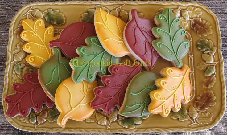 #fall #cookies {TriciaZ @ The Cookie Loft Girls via Cookie Connection}
