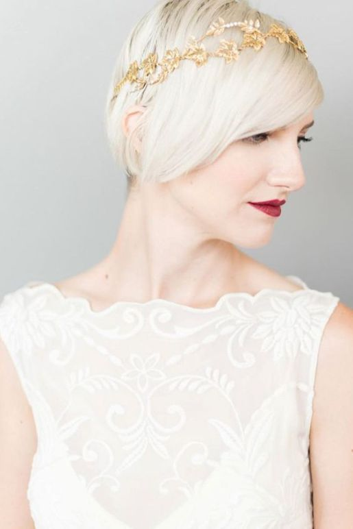 Sophisticated + Straight Wedding Hairstyles – Beautiful Bridal Inspiration by Sheer Ever After #beautyhairstyles