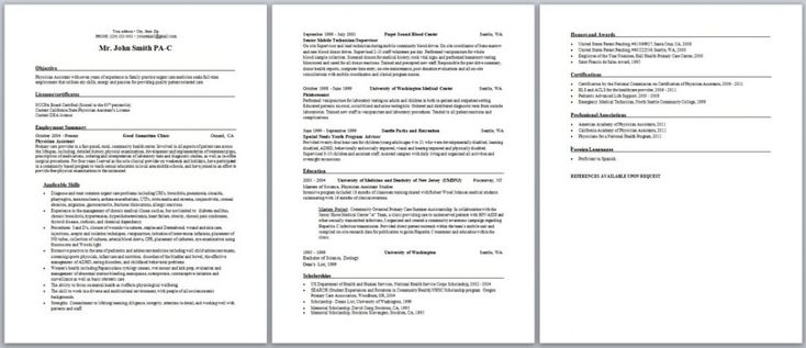 Practicing PA Resume Photo Resume tips Pinterest Physician