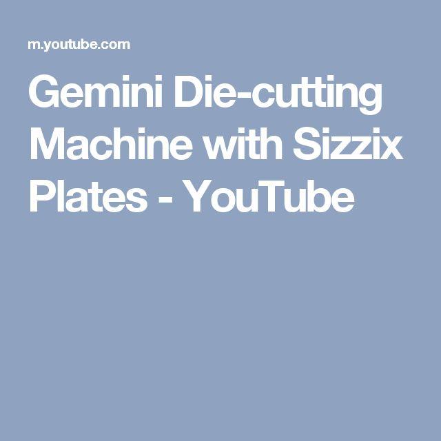 Gemini Die-cutting Machine with Sizzix Plates - YouTube