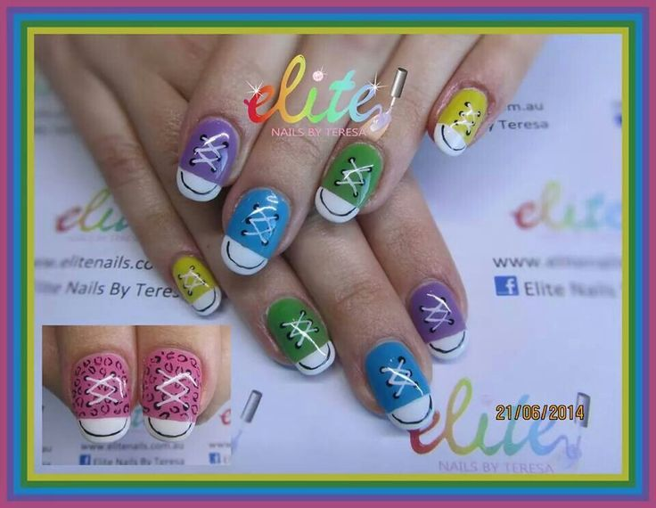 358 best my nail designs elite nails by teresa images on cnd shellac manicure converse shoes all hand painted blue lilac purple green yellow pink prinsesfo Images