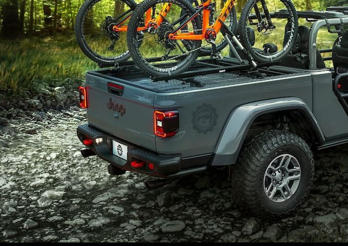 Mopar 82215631 Truck Bed Cross Bars For 2020 Jeep Gladiator Jt With Trail Rail Jeep Gladiator Truck Bed Jeep