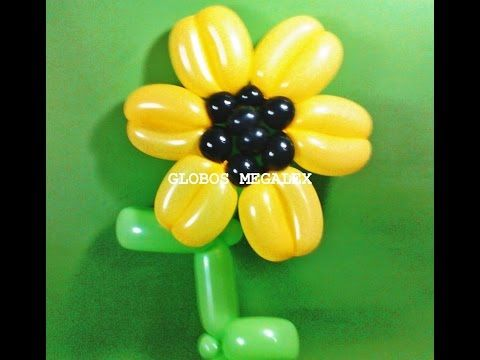 GLOBOS FLOR GRANDE PARA DECORAR 1/2 - YouTube
