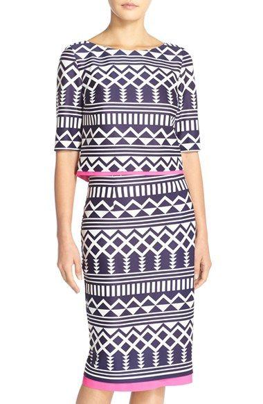 Eliza J Print Scuba Two-Piece Dress (Regular & Petite) available at #Nordstrom