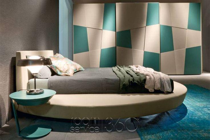 Zero Modern Round Bed by Presotto